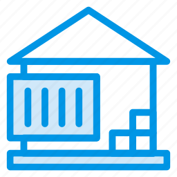 building, garden, home, house, network, place, property icon
