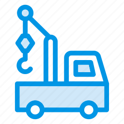 auto, crane, lifter, transport, truck, vehicle icon