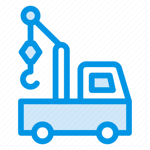 Auto, crane, lifter, transport, truck, vehicle icon - Download on Iconfinder