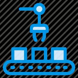 auto, boxes, crane, electric, lifter, machine, machinery icon