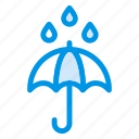 protection, rain, safe, safety, umbrella, water icon
