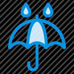 beach, protection, rain, safe, umbrella, water, wet icon