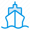 boat, delivery, sea, ship, shipping, transport, travel icon