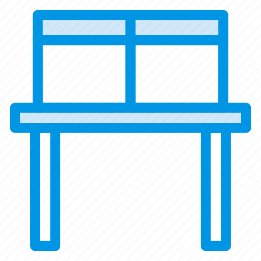 computerdesk, deliveryboxes, office, officedesk, packages, table, workplace icon