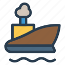 boat, sea, ship, shipping, transport, transportation, travel icon