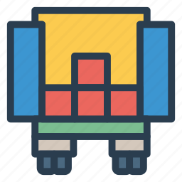 blocktruck, deliver, delivery, shipping, transport, truck, vehicle icon