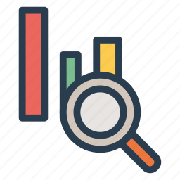 analytic, analytics, business, find, graph, result, search icon