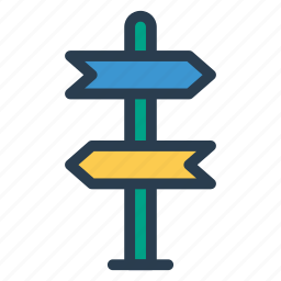 arrow, arrows, direction, left, place, right, sign icon