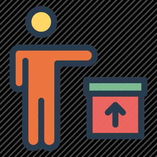 avatar, box, employee, male, man, profile, user icon