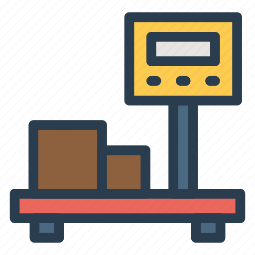 balance, box, machine, measure, scale, weighing icon