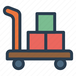 briefcase, carry, luggage, lugguage, packing, service, trolly icon