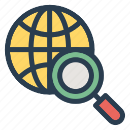 browser, data, internet, magnify, online, search, world icon