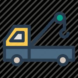 construction, crane, engineer, machinery, transport, truck, vehicle icon