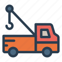 automobile, construction, crane, engineer, machine, transportation icon