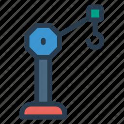 crane, engineer, equipment, hook, machine, machinery icon