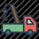 crane, engineer, lift, lifting, machine, transport, vehicle icon