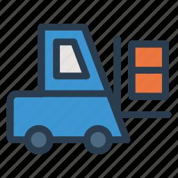box, crane, equipment, lifting, lugguage, machinery, vehicle icon