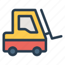 automobile, crane, lifter, machine, machinery, transport, vehicle icon