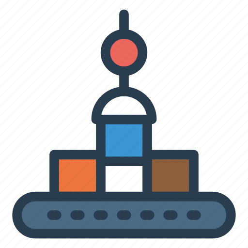 Crane, lifter, machine, machinery, transport, truck, vehicle icon - Download on Iconfinder