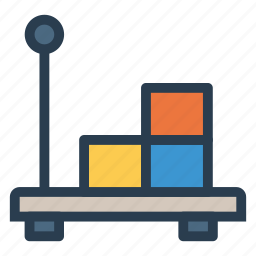 boxes, cart, deliver, electric, lifter, lugguage, vehicle icon