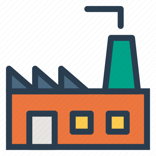 building, company, estate, factory, industry, manufacture, plant icon