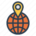 gps, internet, location, map, navigation, tracking, world icon