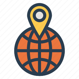 gps, internet, location, map, navigation, tracking, world icon