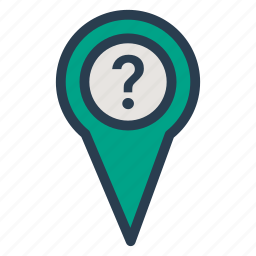 gps, location, map, pin, track, tracking, unknown icon