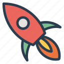launch, missile, rocket, science, spaceship, startup icon