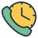 alerts, call, device, mobile, phone, time, voicecalling icon