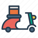 engine, motor, scooter, scooty, transport, transportation, travel icon
