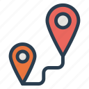 directions, location, map, navigation, pin, tracking icon