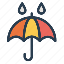 beach, protection, rain, safe, umbrella, water, wet icon