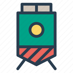 delivery, journey, rail, shipping, train, transport, vehicle icon