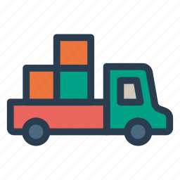 box, deliver, delivery, shipping, truck, van, vehicle icon