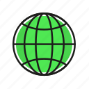 cargo, globe, logistics, shipping, transportation icon