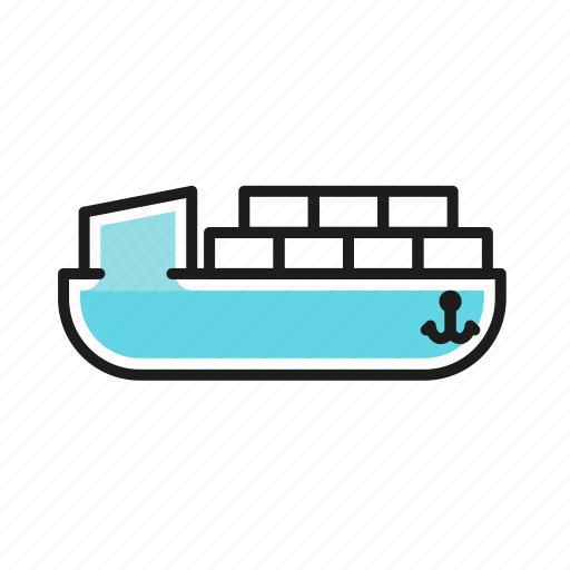 boat, cargo, logistics, shipping, transportation icon