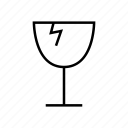 fragile, shape, sign icon