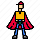 box, delivery, protect, shipping, superman icon