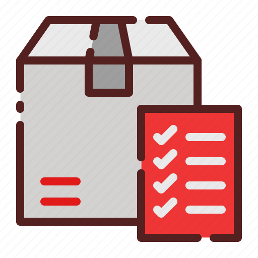 checklist, delivery, ecommerce, logistics, package box, report, shipping icon