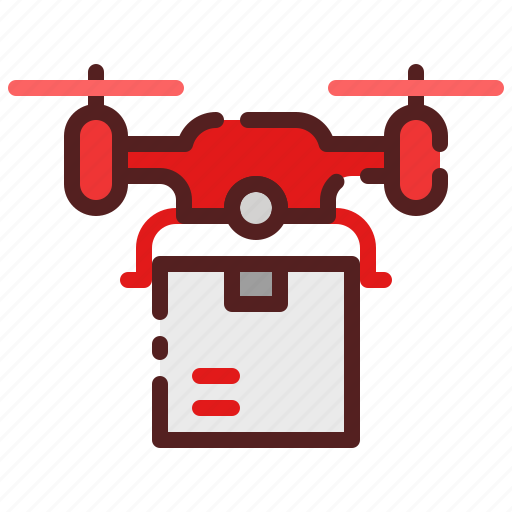 Copter, delivery, distribution, drone, logistics, package box, shipping icon - Download on Iconfinder