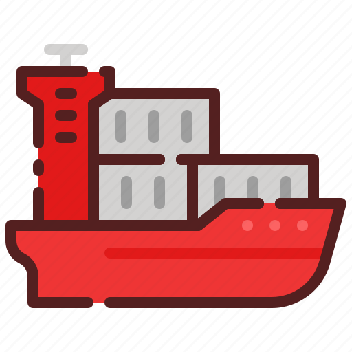 cargo, delivery, logistics, package box, ship, shipping icon