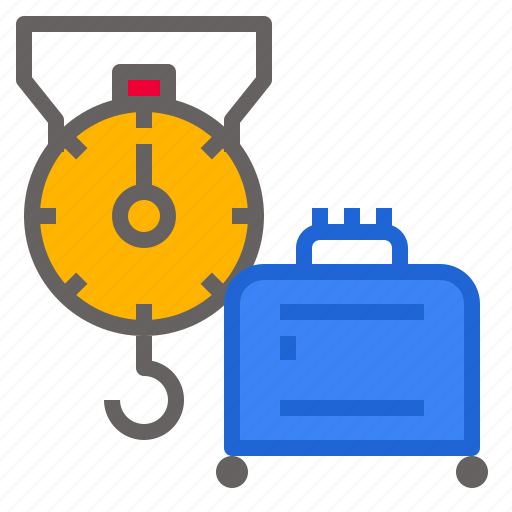 box, measurement, package, scale, weight icon