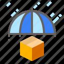 cargo, keepdry, protect, umbrella icon