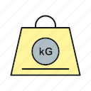 balance, kg, weigh icon