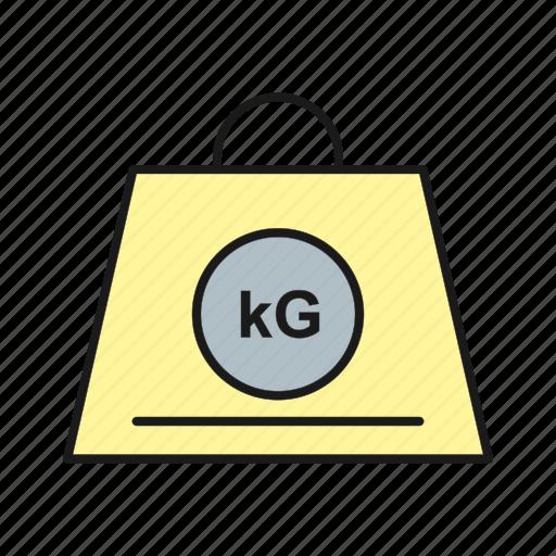 balance, kg, weigh icon