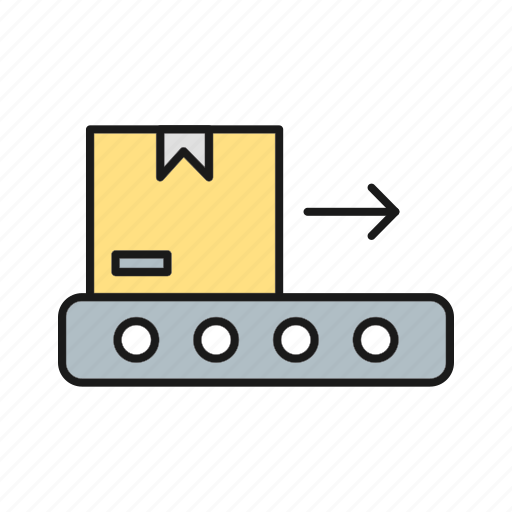 Belt, box, conveyor, package icon - Download on Iconfinder