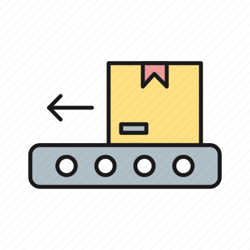 Box, conveyor, delivery, logistics icon - Download on Iconfinder