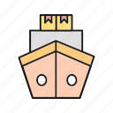delivery, ship, transport, transportation icon
