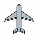 airplane, plane, transport, travel icon
